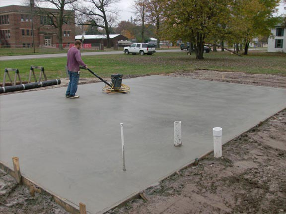 Hattiesburg concrete pads for RV, sheds, AC, basketball
